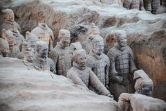 Guerrieri vivi di terracotta Fotografie Stock