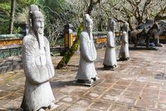 Guerriero alla tomba del Tu Duc in Hue Vietnam fotografie stock libere da diritti