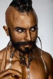 Guerriero arabo 7 dell'oro potente del fronte Immagini Stock Libere da Diritti