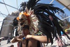 Guerriero azteco immagine stock libera da diritti