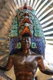 Guerriero azteco messicano Fotografia Stock Libera da Diritti