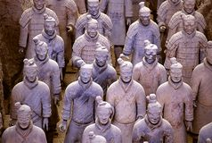 Guerriero cinese di terracotta Fotografia Stock
