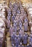 Guerriero cinese di terracotta Immagini Stock Libere da Diritti