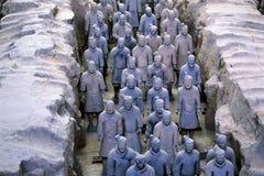 Guerriero cinese di terracotta Fotografia Stock Libera da Diritti