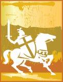 Guerriero del cavallo illustrazione di stock