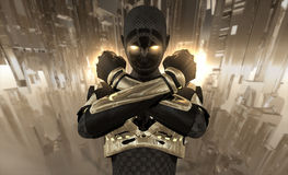 Guerriero del Cyborg Fotografia Stock Libera da Diritti