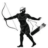 Guerriero del greco antico illustrazione di stock