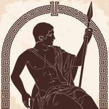 Guerriero del greco antico fotografia stock libera da diritti