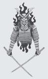 Guerriero del samurai Fotografie Stock