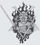 Guerriero del samurai Fotografia Stock Libera da Diritti