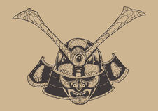 Guerriero del samurai Fotografia Stock
