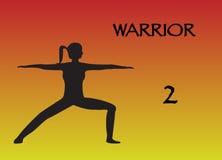 Guerriero 2 della donna di yoga royalty illustrazione gratis
