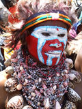 Guerriero della Papuasia Immagine Stock
