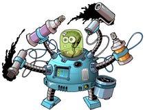 Guerriero dello spruzzo del robot 02 Fotografia Stock Libera da Diritti