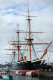 Guerriero di HMS, costruito nel 1860, la nave da guerra corazzata del ` s prima del mondo, fotografie stock libere da diritti