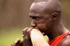 Guerriero di Maasai Fotografia Stock Libera da Diritti