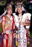 Guerriero di Orang Ulu immagine stock