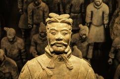 Guerriero di Xian al museo delle arti islamiche MIA In Doha, il capi fotografia stock