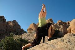 Guerriero di yoga Fotografia Stock