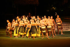 Guerriero e danzatore polinesiani Immagini Stock Libere da Diritti