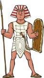 Guerriero egiziano antico Immagine Stock