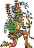 Guerriero maya isolato Fotografia Stock
