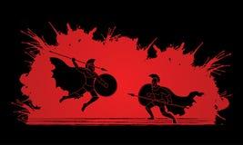 Guerriero spartano royalty illustrazione gratis
