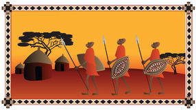 Guerriers africains Photos libres de droits