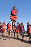 Guerriers de Maasai Photographie stock libre de droits