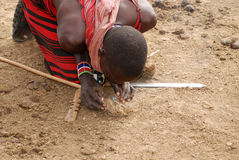 Guerriers de Maasai Photos stock