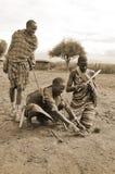 Guerriers de Maasai Images libres de droits