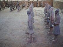 Guerriers de terre cuite Photo stock