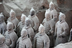 Guerriers de terre cuite, Chine Photo stock