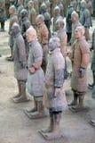Guerriers de terre cuite dans Xian, C Images libres de droits