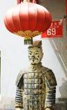 Guerriers de terre cuite de hutong de Pékin Images libres de droits