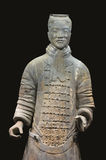 Guerriers de terre cuite de Xian images libres de droits