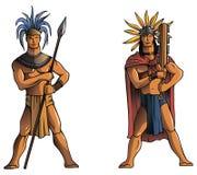 Guerriers maya Image libre de droits