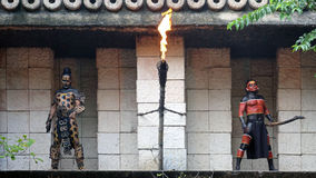 Guerriers maya, Yucatan - Mexique Photographie stock