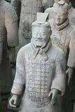 guerriers xian de terracota de porcelaine images libres de droits
