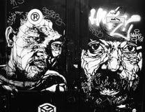 Guerrilla. Black and white graffiti in Amsterdam Stock Photo