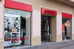 Guess fashion store Royalty Free Stock Photography