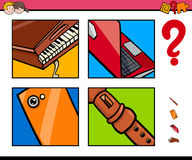 Guess objects cartoon game for children Royalty Free Stock Images