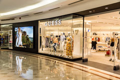 Guess outlet at KLCC Shopping Mall, Kuala Lumpur. KUALA LUMPUR, MALAYSIA, May 20, 2016: Guess outlet at KLCC Shopping Mall, Kuala Lumpur.  Guess is an American Stock Image