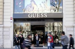 Guess Shop Royalty Free Stock Image