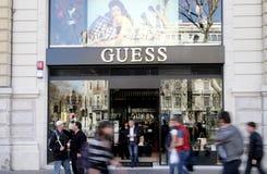 Guess Shop royalty free stock image
