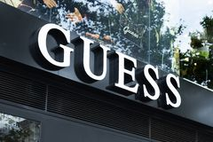 Guess store in Passeig de Gracia in Barcelona royalty free stock photography