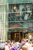 The Guess store on pitt street in the Sydney central district. This is a very busy part of pitt street where is located the guess shop Royalty Free Stock Photography