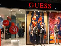 Guess  store Royalty Free Stock Photos