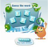 Guess the word Angel. Visual Game for children. Task: guess the word. Right answer- Angel Royalty Free Stock Image