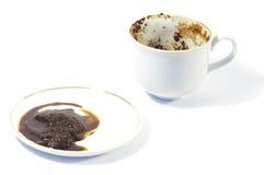 Guess-work op het koffiesediment Royalty-vrije Stock Fotografie